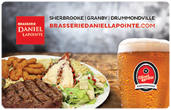 Brasserie Daniel Lapointe Physical Gift Card #1